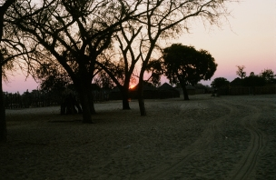 Sounds of drums and singing in the evening, Botswana