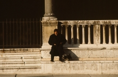 Man and dog, Rome