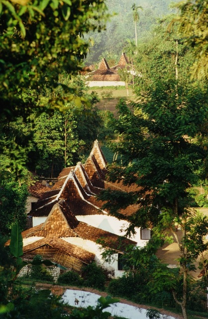 Traditional houses in Madura, Indonesia